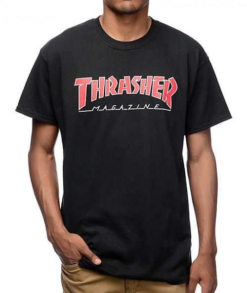 Camiseta Thrasher Outlined T-Shirt Black