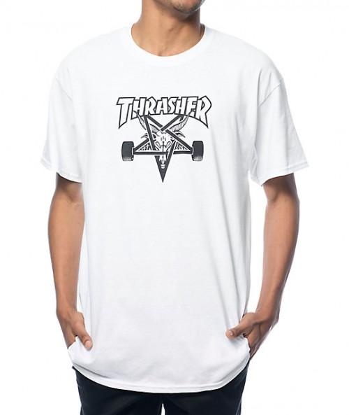 Camiseta Thrasher Skate Goat T-Shirt White
