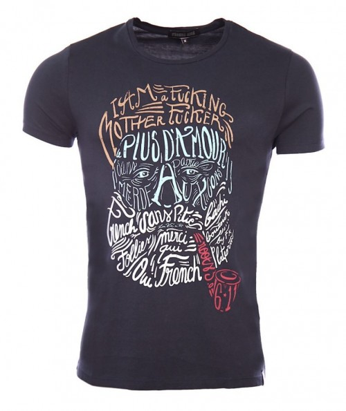 Camiseta French Kick Brain Storming Navy