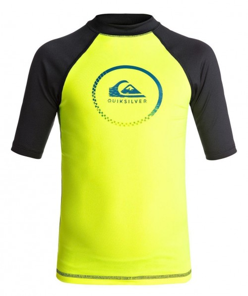 Lycras de surf Quiksilver Active SS Rashguard Safety Yellow/Black
