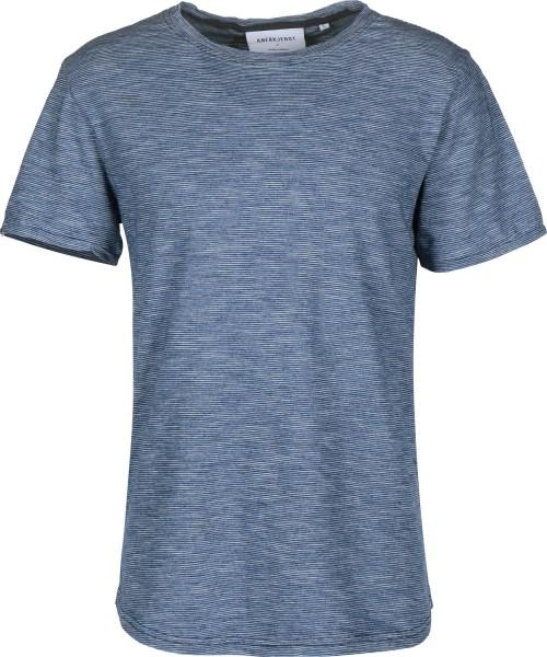Camiseta Anerkjendt Castor T-Shirt Estate Blue
