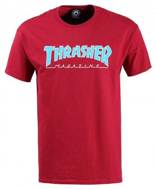 Camiseta Thrasher Outlined T-Shirt Cardinal