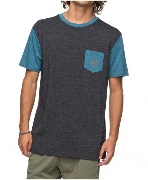 Camiseta Quiksilver Baysic Pocket Dark Grey Heather