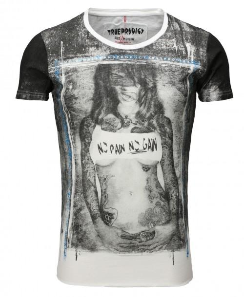 Camiseta True Prodigy No Pain No Gain T-shirt Off White