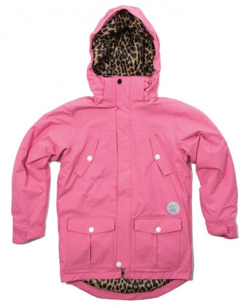 Chaqueta de snowboard Wear Colour Concrete Parka Shock Pink