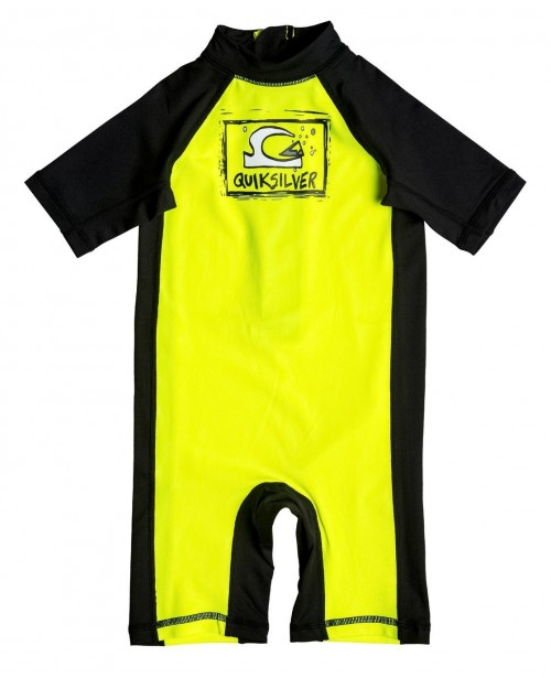 Lycras de surf Quiksilver Bubble Spring Kid Safety Yellow/Black