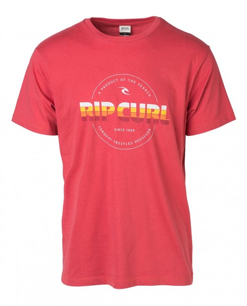 Camiseta Rip Curl Bigmama Circle Tee Mineral Red