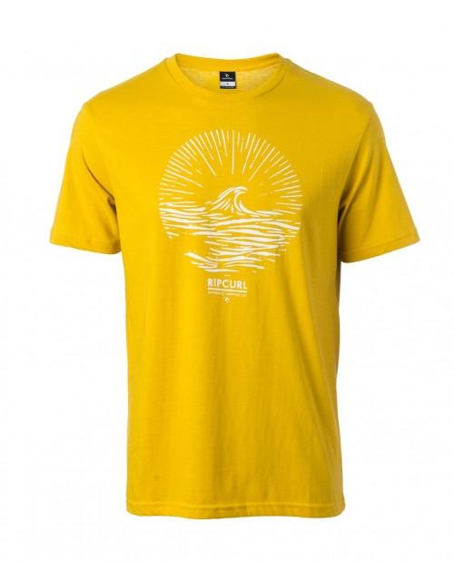 Camiseta Rip Curl Peak Tee Spicy Mustard