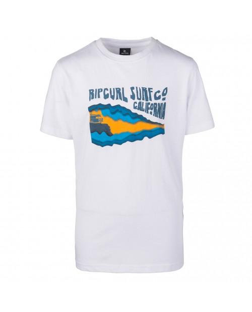 Camiseta Rip Curl Van Surf Boy Tee Optical White