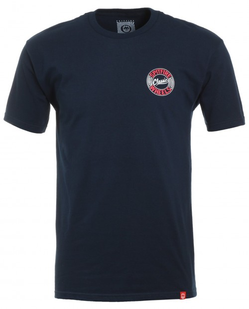Camiseta Spitfire Flying Classic Tee Navy/Red/White