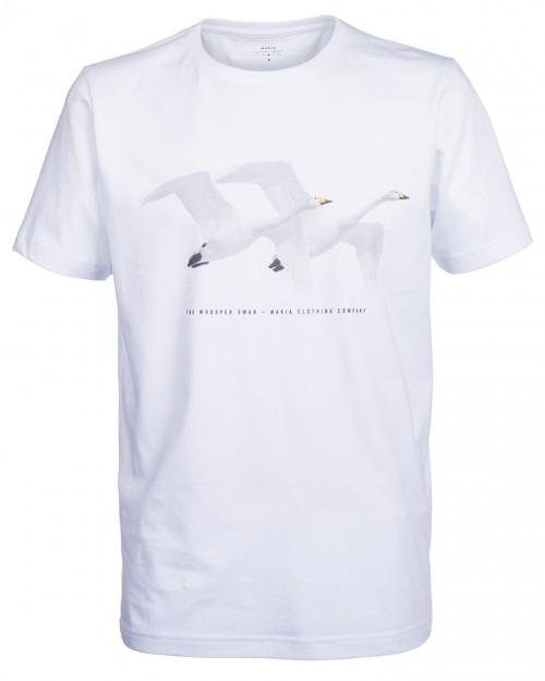 Camiseta Makia Swan Tee White
