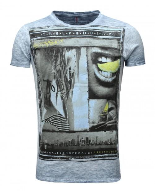 Camiseta True Prodigy Bodyshot Blue Lemon Ombre Blue