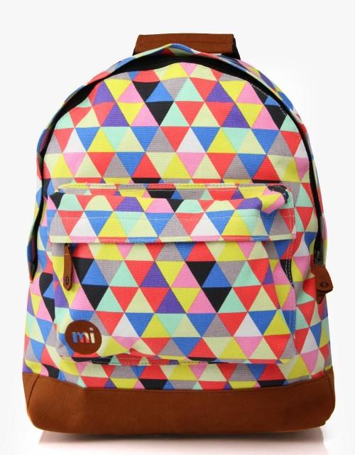 Mochila Mi-Pac Premium Prints Triangles Multi