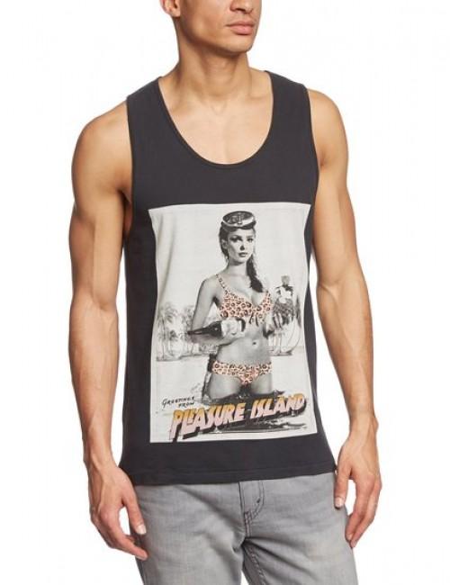 Camiseta Globe Pleasure Island Singlet Tank Top Acid Black