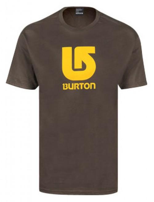 Camiseta Burton Boys Logo Vertical SS Havana/Gold