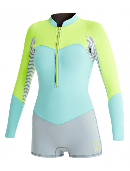 Neopreno de surf Roxy XY Spring 2 mm Fog Blue/Glicer Blue/F.Lemon