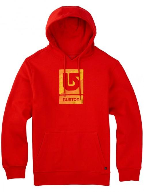 Sudadera Burton Logo Vertical Fill Pullover Hoodie Fiery Red