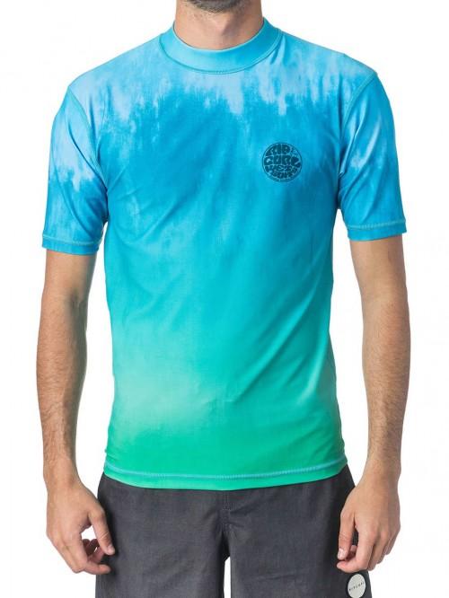 Lycras de surf Rip Curl Corpo Faded UV Tee Aqua