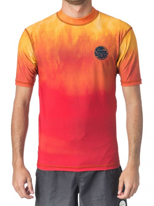 Lycras de surf Rip Curl Corpo Faded UV Tee Orange