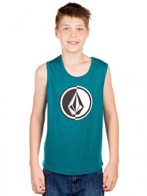 Camiseta Volcom Circle Stone Tank Top Boys Strobe Green
