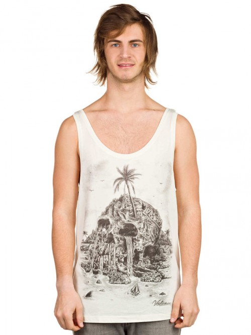 Camiseta Volcom Visible Muerta Light Tank Top Pearl