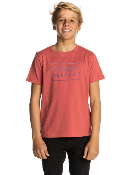 Camiseta Rip Curl Undertow Logo Gradian Tee Mineral Red