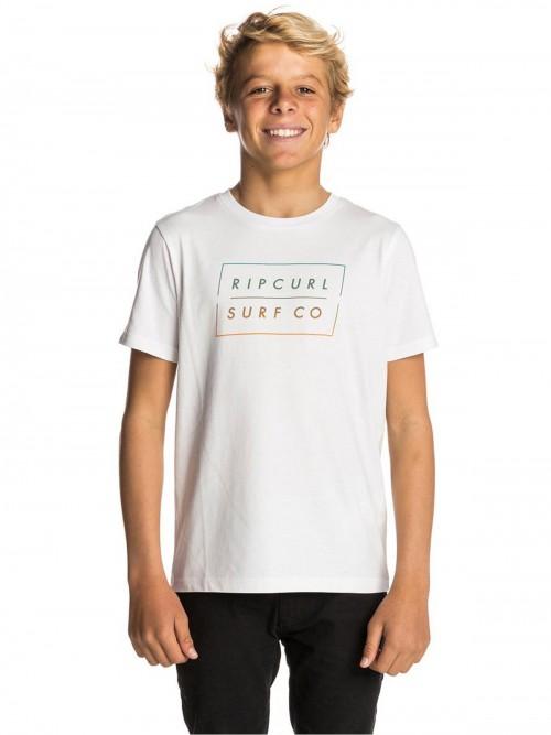 Camiseta Rip Curl Undertow Logo Gradian Tee Optical White
