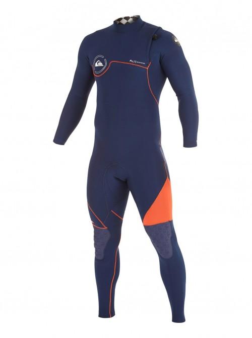 Neopreno de surf Quiksilver AG47 3/2 mm Zipperless Long Sleeve Ink Blue/Orange