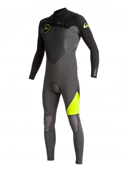 Neopreno de surf Quiksilver Syncro Plus 4/3 Chest Zip Jet Black/Black/Safety Yellow