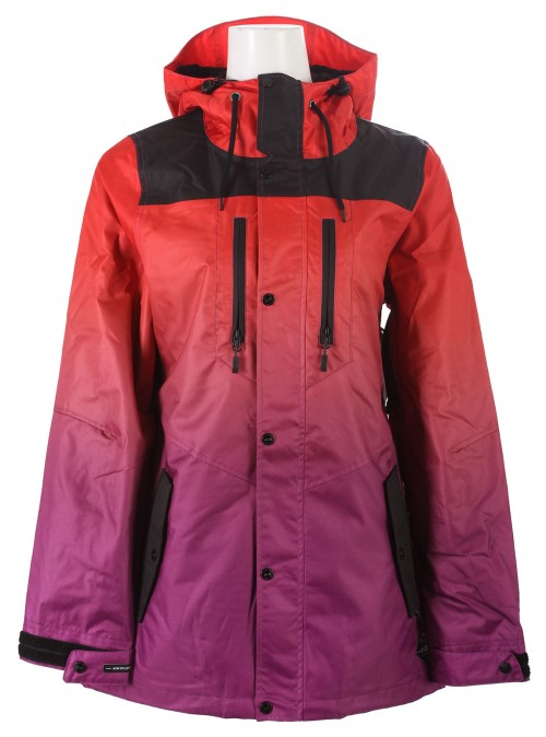 Chaqueta de snowboard Neff Falcon Red Purple