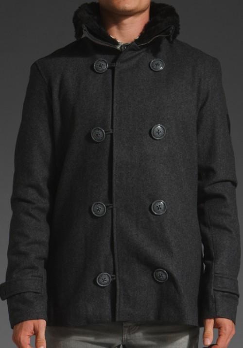 Chaqueta Makia Pea Coat Black
