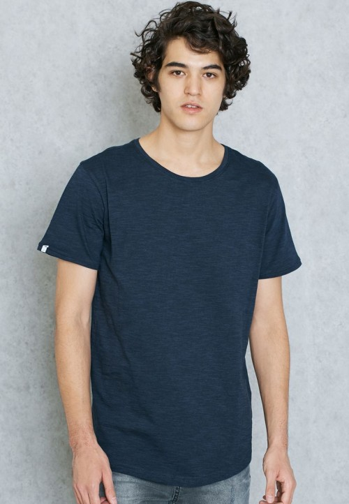 Camiseta Anerkjendt Allend T-Shirt Black Iris