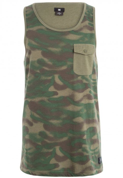 Camiseta DC Makes Us Print T-Shirt Camo Spray Khaki