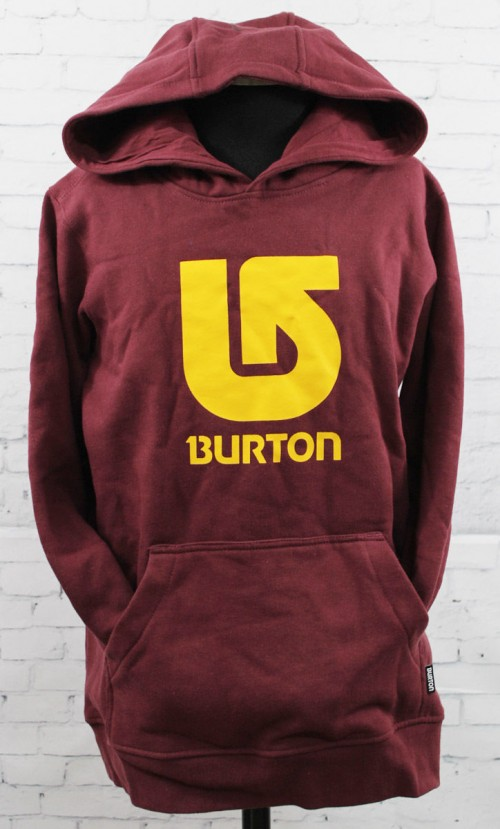 Sudadera Burton Boys Logo Vertical Sangria