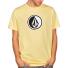 Camiseta Volcom Circle Stone SS Basic Light Yellow